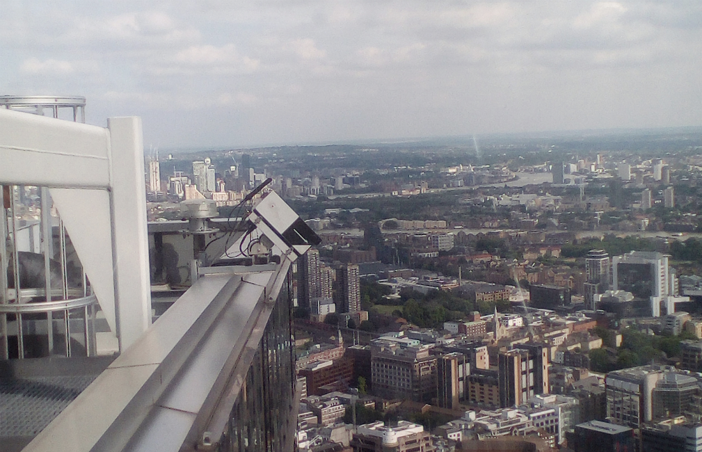 Lobster Pot time lapse camera high above the city of London.