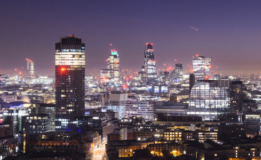 Time Lapse of London Skyline at Night
