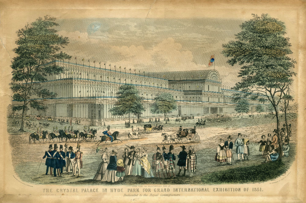 The Crystal Palace in Hyde Park 1851.