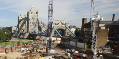 Tower Bridge Construction Time Lapse